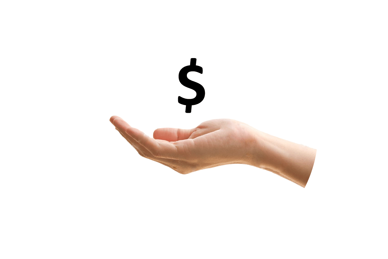 hand with dollar sign